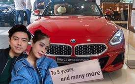 Vợ chồng ca nương Kiều Anh tậu BMW Z4 kỷ niệm 5 năm ngày cưới, tấm biển nhận xe là chi tiết 'đốn tim' cư dân mạng