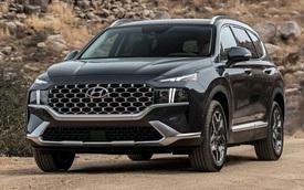 Hyundai Santa Fe 2021 tăng nhẹ giá bán, cao nhất lên tới gần 1 tỷ 200 triệu đồng khi quy đổi ra tiền Việt