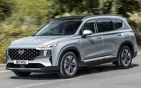 Hyundai Santa Fe 2021 dần lộ diện - Thay đổi để 'vợt' khách của Mazda CX-8 và Toyota Fortuner