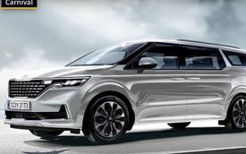 Kia Sedona thế hệ mới dần lộ diện với ngoại thất đẹp như Range Rover
