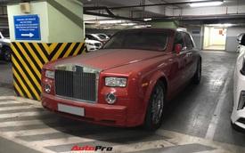 Sau Lamborghini Huracan, tới lượt Rolls-Royce Phantom độc nhất Việt Nam nằm phủ bụi trong hầm gửi xe