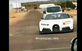 Ông hoàng tốc độ Bugatti Chiron chạy thử phiên bản bí ẩn, bị người dân bắt gặp