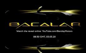Bentley Mulliner Bacalar khoe mui trần đúng nghĩa: Không có mui luôn!