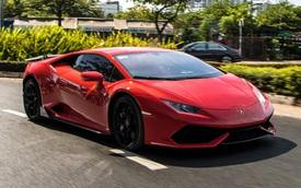 Cận cảnh Lamborghini Huracan màu đỏ thứ ba tại Việt Nam - Chiếc Huracan duy nhất trong nước sơn màu thay vì dán decal
