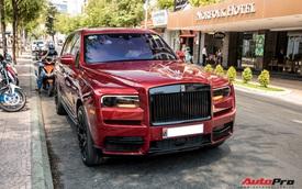 Rolls-Royce Cullinan màu đỏ độc nhất Việt Nam bất ngờ Nam tiến