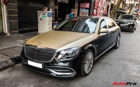 Góc làm đẹp không khó: Chỉ với lớp decal, đại gia Cần Thơ biến Mercedes-Maybach S 450 sang phong cách '2 tông' bắt mắt
