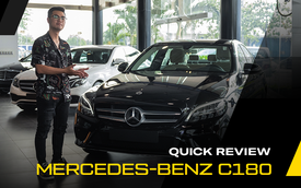 Đánh giá nhanh Mercedes-Benz C 180 - Xe sang quốc dân thay thế sedan D phổ thông