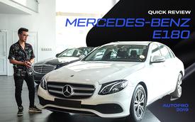 Đánh giá nhanh Mercedes-Benz E 180: Phủ sang trọng lên C 180 để lấy lòng khách dịch vụ