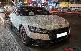 Nữ đại gia Sài Gòn chơi trội, dát hàng nghìn viên pha lê lên Audi TT