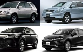 3 đời Toyota Harrier: Từ chung thân Lexus RX tới SUV riêng đấu Honda CR-V