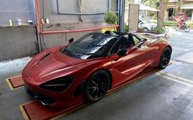 McLaren 720S Spider ra phố lần đầu sau gần 1 tháng về nước