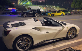 Ferrari 488 Spider độ Novitec bất ngờ xuất hiện tại Đà Lạt, hội ngộ cùng dàn xe tiền tỷ của giới nhà giàu Sài Gòn
