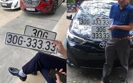 Chủ nhân Toyota Vios may mắn 'bấm' được biển số ngũ quý, dân mạng xôn xao đồn đoán giá bán lại