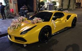 Siêu xe Ferrari 488 mui trần tiền tỷ làm xe hoa tại Sài Gòn