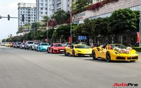 Dàn xe khủng giá không dưới 100 tỷ diễu hành rước dâu tại Sài Gòn