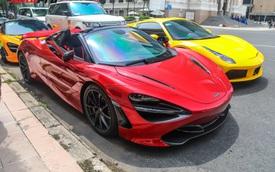 Cận cảnh siêu phẩm McLaren 720S Spider màu đỏ độc nhất Việt Nam