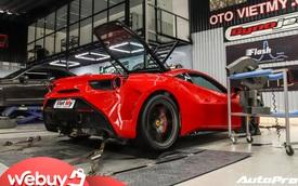 Xem thợ độ Việt Nam nâng công suất Ferrari 488 GTB: Gần 1 tuần nâng thêm 100 mã lực nhưng vì lý do này vẫn chưa ưng ý