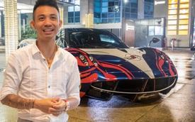 Vừa chốt mua Maserati Levante Trofeo, Minh 'nhựa' mang Pagani Huayra 'đánh bóng' mặt đường đêm