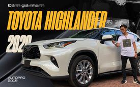 Đánh giá nhanh Toyota Highlander Limited 2020 giá hơn 4 tỷ đồng: Thoải mái, an toàn nhưng nhiều chi tiết chỉnh cơ gây tranh cãi