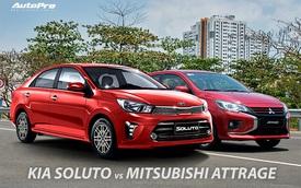 Kia Soluto vs Mitsubishi Attrage: Cuộc đua gay cấn tới ngôi vị 'xe tốt nhất tầm giá'