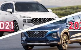 Hyundai Santa Fe 2021 vs 2020: Tất tay thay đổi thiết kế dù chỉ là bản nâng cấp