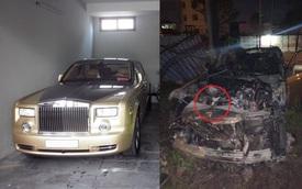 Xót xa hình ảnh Rolls-Royce Phantom biển tứ quý 8 sau cháy ở Quảng Ninh: Chỉ còn đống tro tàn, chiếc logo quyền lực thành cục than