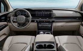 Kia Sedona thế hệ mới lần đầu tung ảnh nội thất: Ảnh hưởng từ Mercedes-Benz C-Class?