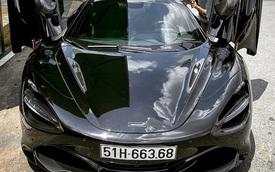 Siêu xe McLaren 720S Spider màu đen của đại gia Sài thành đã có biển số