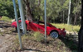 Đại gia đâm tan nát siêu xe Ferrari khi chạy lần cuối trước khi bán, thông tin sau đó còn 'đắng' hơn