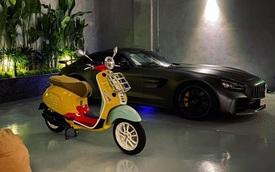 Doanh nhân Nguyễn Quốc Cường sắm Vespa hàng hiếm màu lạ, trưng bày cùng bộ sưu tập siêu xe hoành tráng tại nhà
