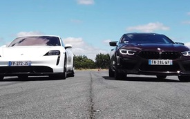 Porsche Taycan đua drag với BMW M8 Gran Coupe: Sự chênh lệch giữa 2 thế hệ truyền động