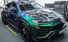 Lamborghini Urus đổi màu cực độc tại Sài Gòn, riêng bodykit có giá đắt ngang Toyota Camry