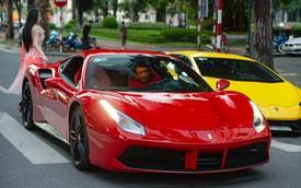 Ca sĩ Tuấn Hưng mang Ferrari 488 GTB đi offline với dàn siêu xe Hà Nội