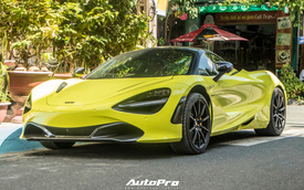 Cận cảnh McLaren 720S đầu tiên Việt Nam đổi màu neon chói loá