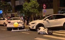 Hàng hiếm Tesla Model X gặp nạn tại Nha Trang, có một chi tiết được cư dân mạng hết lời khen ngợi
