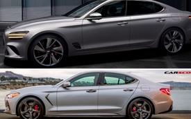 Genesis G70 facelift có gì mới đối đầu Mercedes-Benz C-Class, BMW 3-Series?