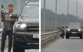 Dừng xe trên cao tốc Hạ Long - Hải Phòng, nam tài xế lấy súng tự chế bắn chim