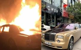 Rolls-Royce Phantom độc nhất Việt Nam bốc cháy ngùn ngụt trong đêm