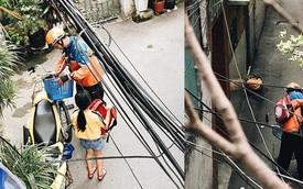 Anh shipper chở con gái đến mua xe đạp, người bán vừa thấy đứa bé liền thay đổi quyết định