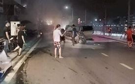 Hiện trường vụ xe Lexus gây tai nạn liên hoàn ở Hải Phòng
