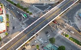Chùm ảnh: Nhìn từ trên cao cây cầu vượt dầm thép nối liền 3 quận nội thành Hà Nội trước ngày thông xe