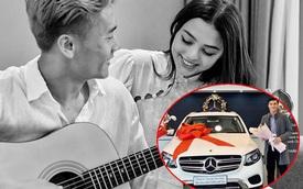 """Hậu công khai hẹn hò, Bùi Tiến Dũng lái Mercedes đưa bạn gái người mẫu đi chơi, cô nàng còn """"nhún nhảy"""" cực vui"""