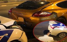 Taxi tông móp siêu xe tiền tỷ, hình ảnh tài xế bên vệ đường khiến tất cả chú ý