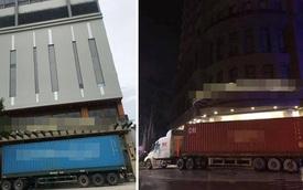 Đánh xe container chặn trước cửa, người dân miền Trung gồng mình đối phó cơn bão số 9
