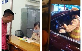 Hà Nội: Phạt hơn 40 triệu đồng tài xế Santa Fe ngủ trên xe, không chịu đo nồng độ cồn