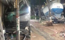 Hà Nội: Xe bồn lao thẳng vào nhà dân lúc rạng sáng, húc đổ cột điện ven đường