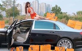 Ngọc Trinh ngả ngớn trên nóc xe Maybach 11 tỷ, cư dân mạng bóc tách chi tiết kém sang