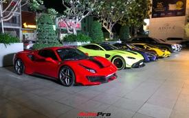 Đại gia Hoàng Kim Khánh mang dàn siêu xe trăm tỷ tổ chức tất niên, dân tình thắc mắc về chiếc xe lạ