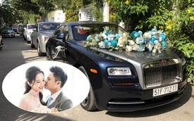 Dàn xe hơn 100 tỷ phục vụ đám cưới thiếu gia Phan Thành: Đủ loại Rolls-Royce, Maybach, Lexus đậu kín ngõ nhà cô dâu