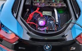 Góc thừa tiền: đào coin bằng dàn 6 RTX 3080 trên đuôi xe BMW i8, nhưng hóa ra chỉ để trêu ngươi game thủ